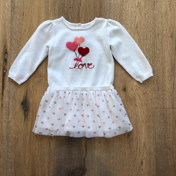 3900bacec Gymboree Dresses | 4 For 20 Heart Sweater Tutu Dress | Poshmark